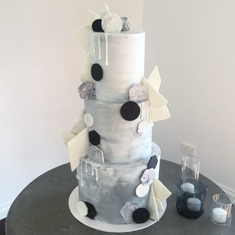Concrete Wedding Cake