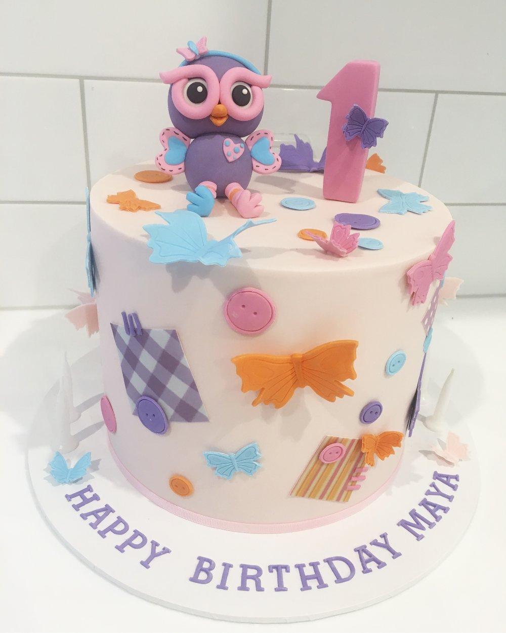 Hootabelle Birthday Cake