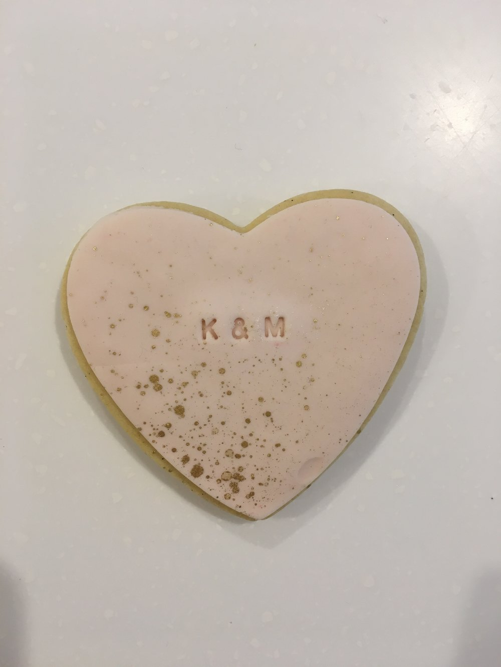 bonbonierre personalised cookie melbourne pink heart