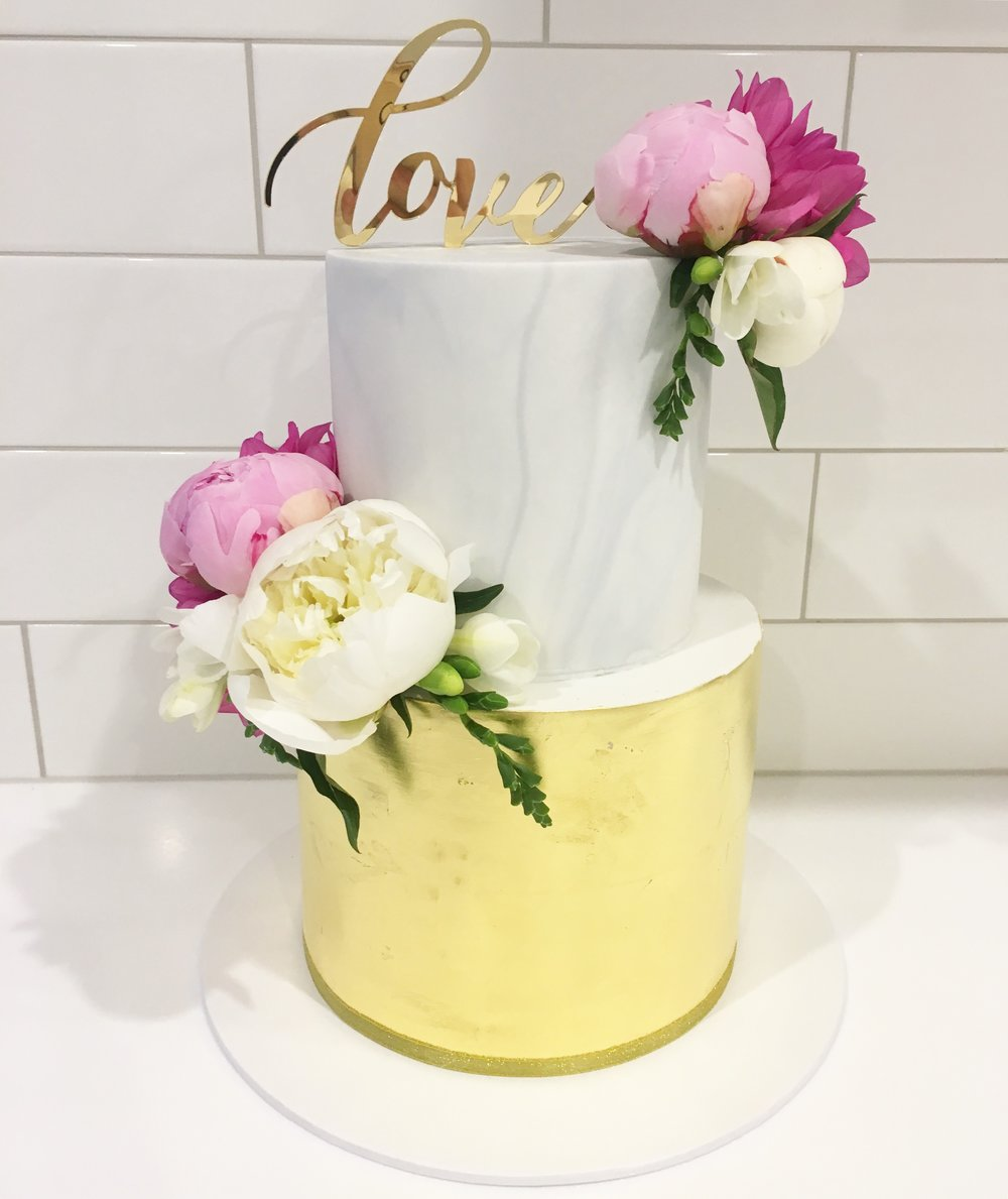 Copy of Marble Fondant Wedding Cake