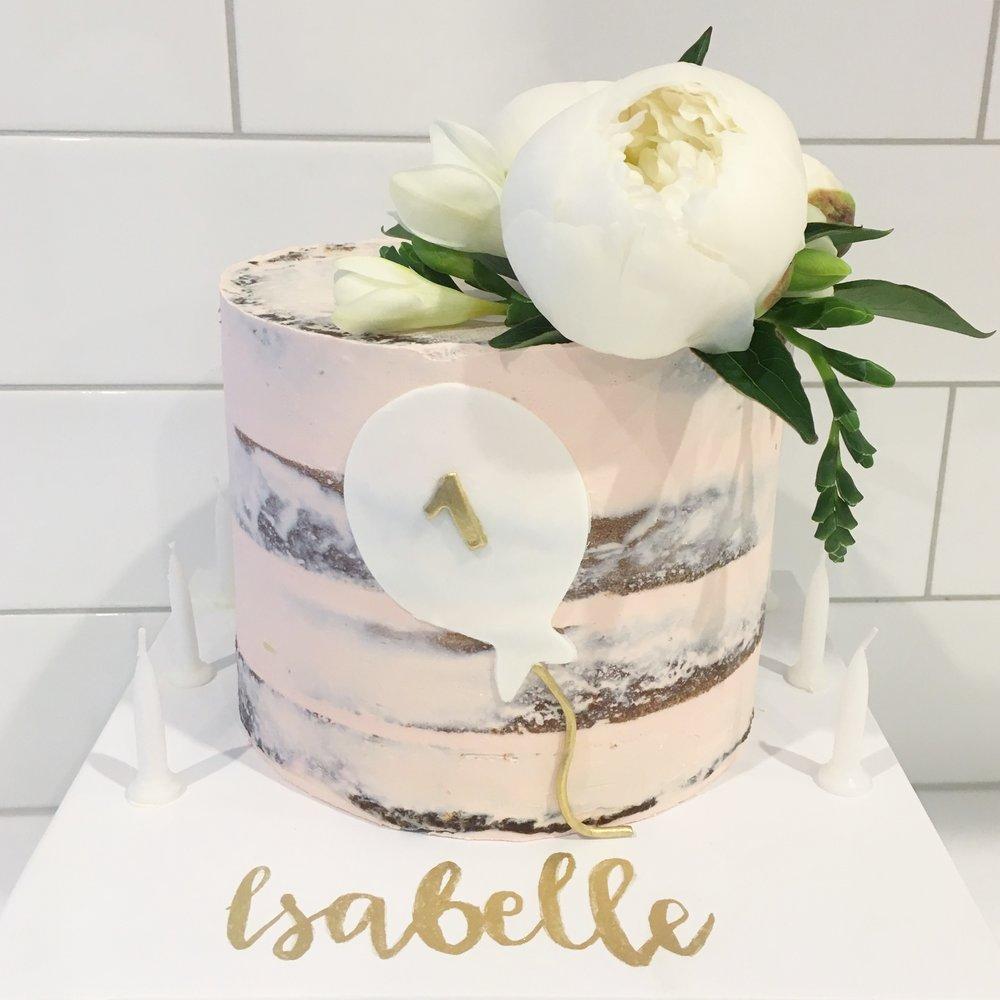 Pink Naked Cake