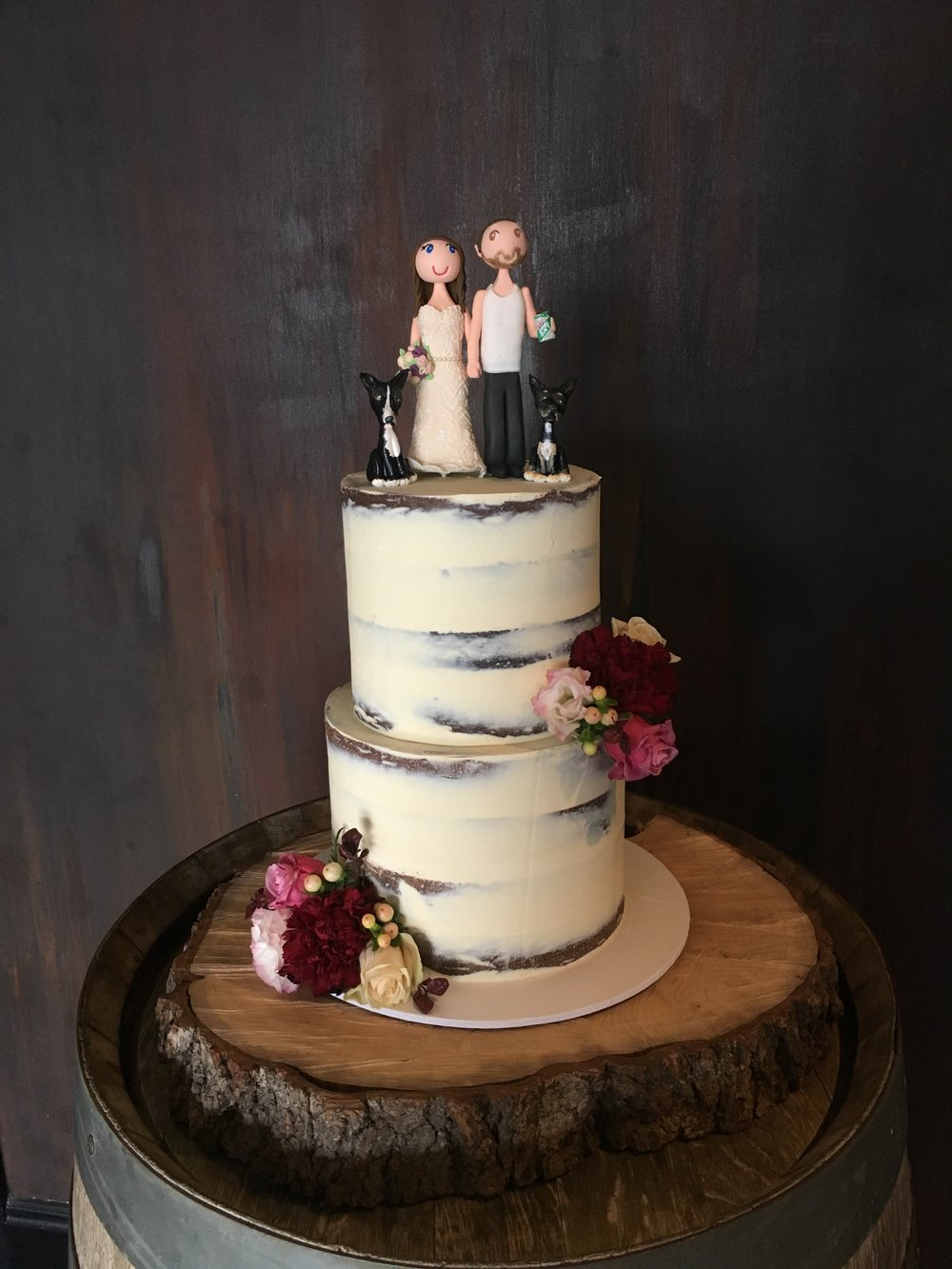 Naked Cake with Custom Toppers
