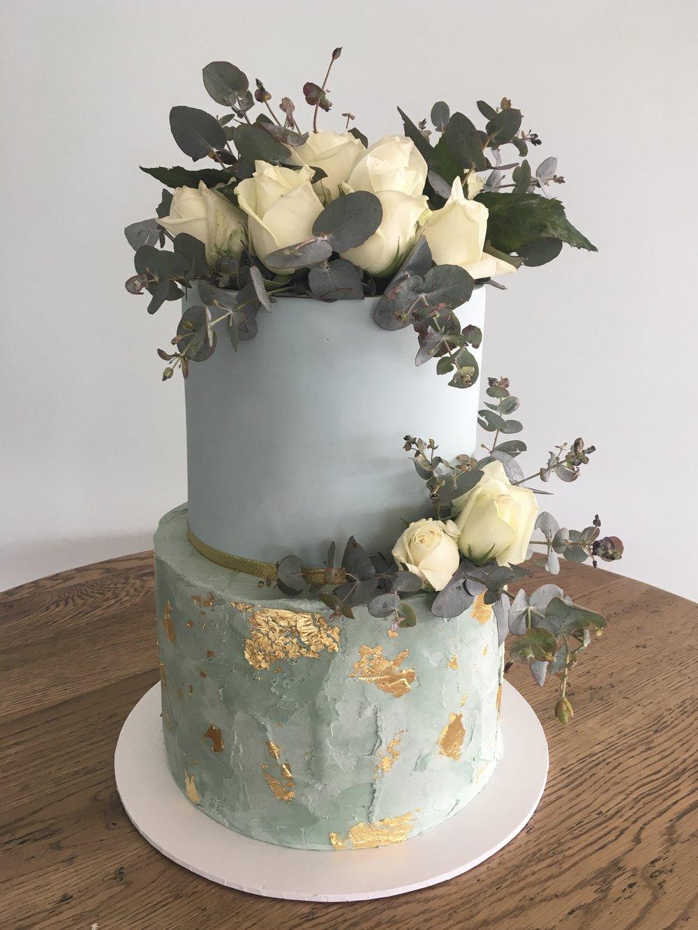 Sage Green Buttercream Cake