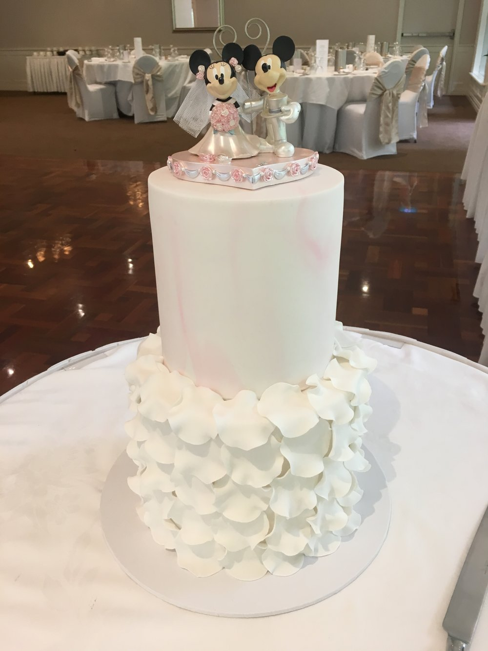 Petal Ruffle Wedding Cake