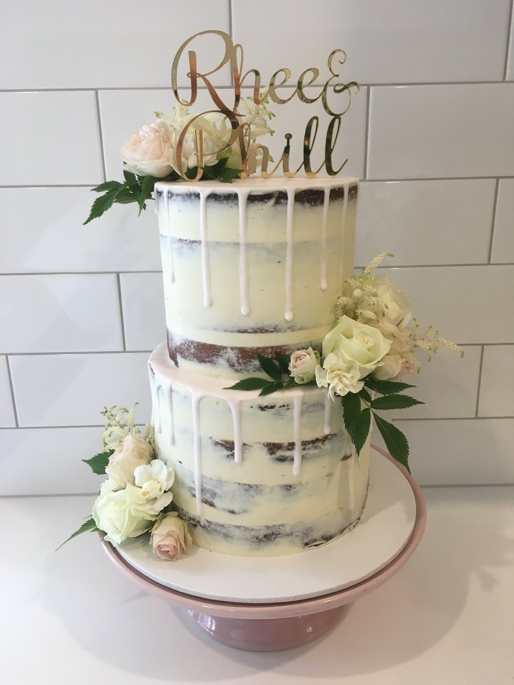 Naked Cake with Drip