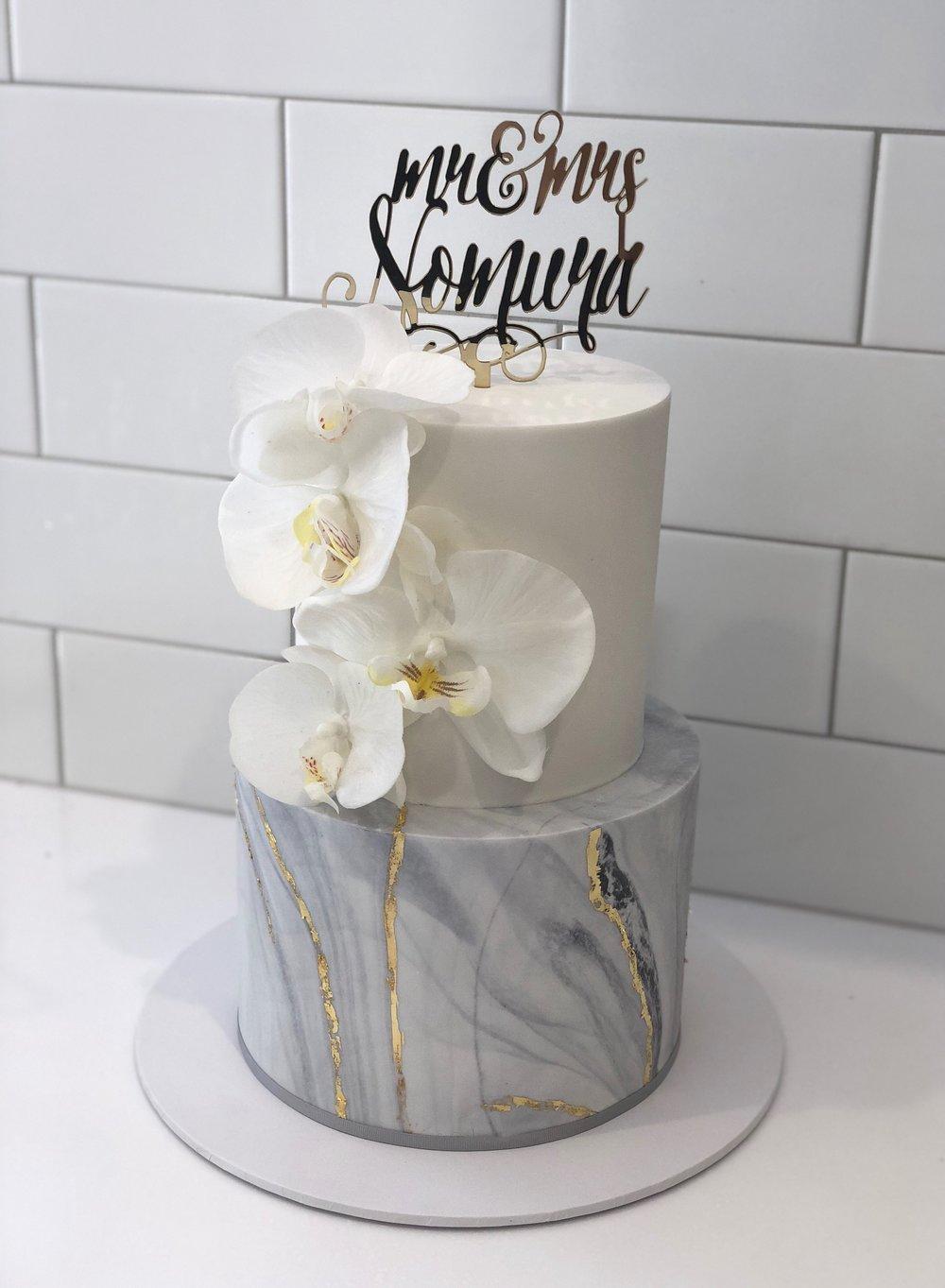 Marble Fondant Cake