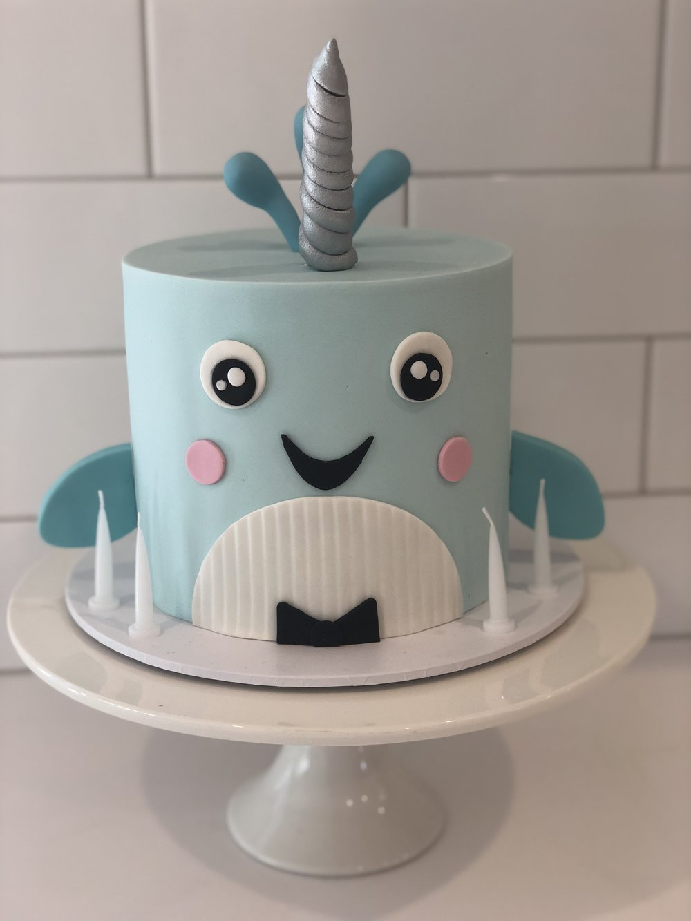 Narwhal Whale Cake Creme De La Cakes