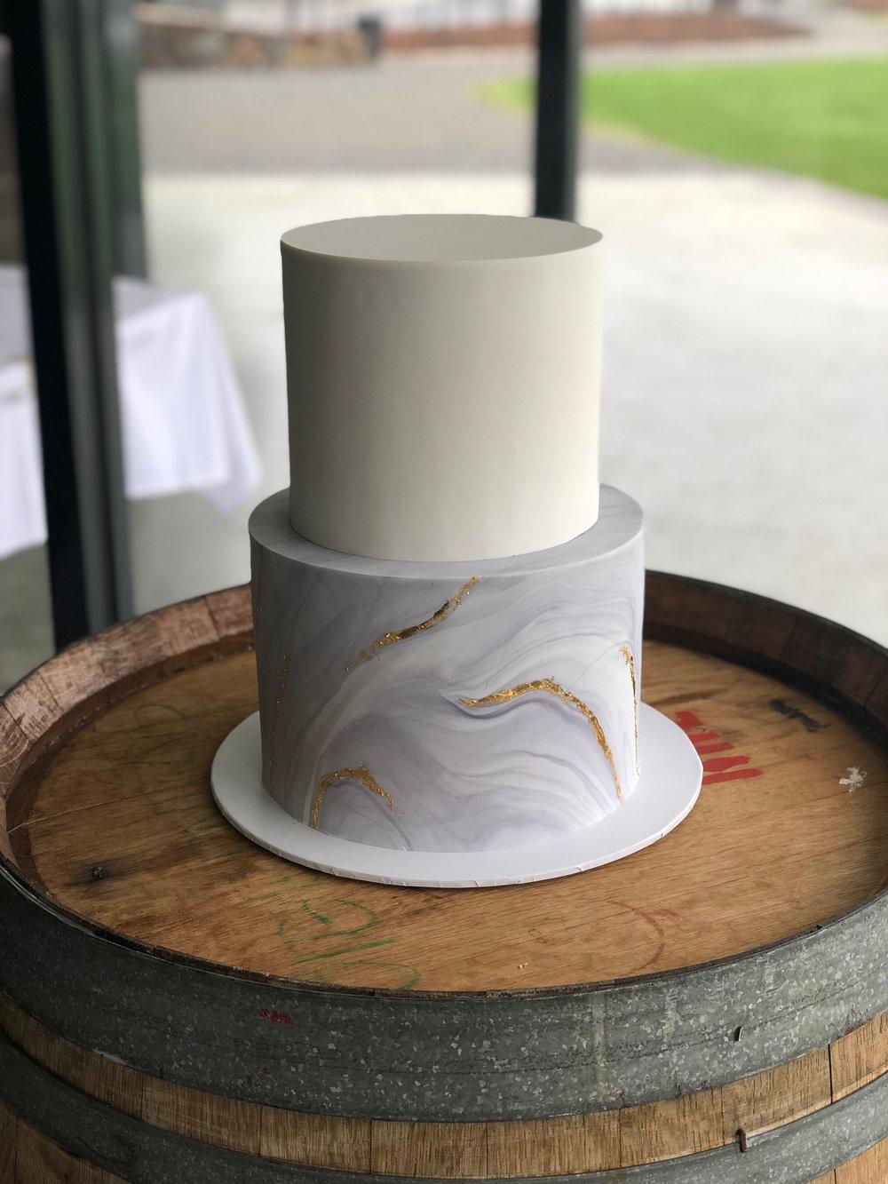 Marble Fondant Wedding Cake