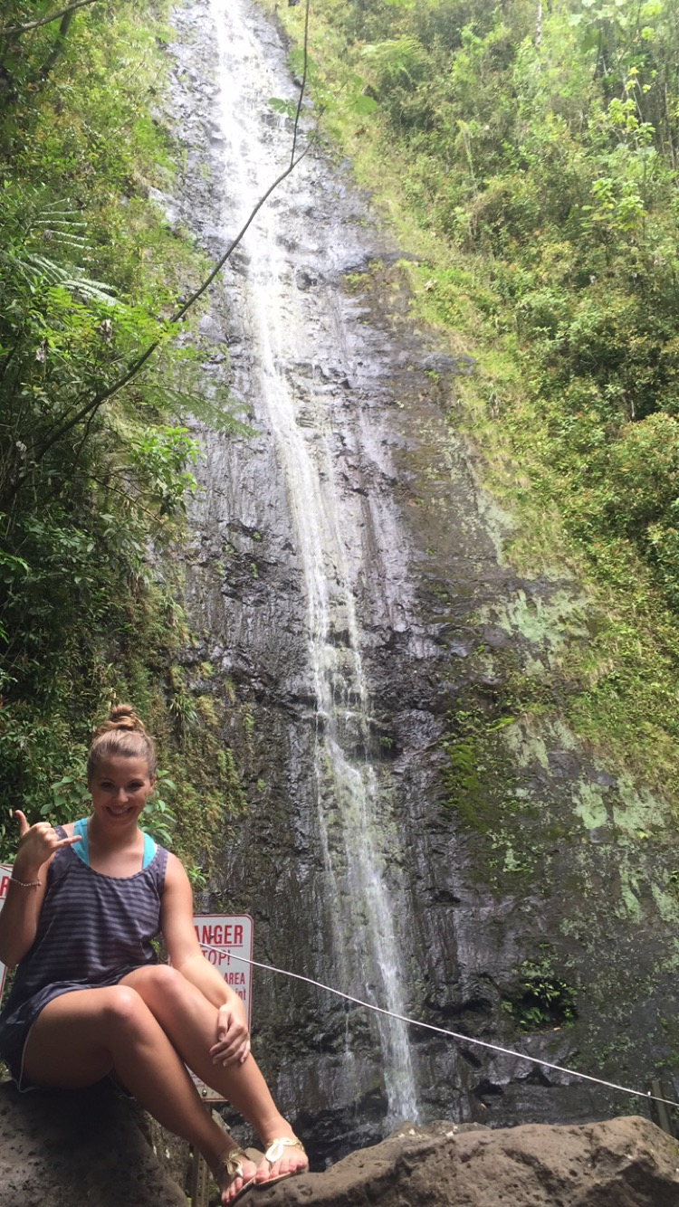Cara Gray (M2) traveled around the US this summer. This is her at Manoa Falls in Hawaii.