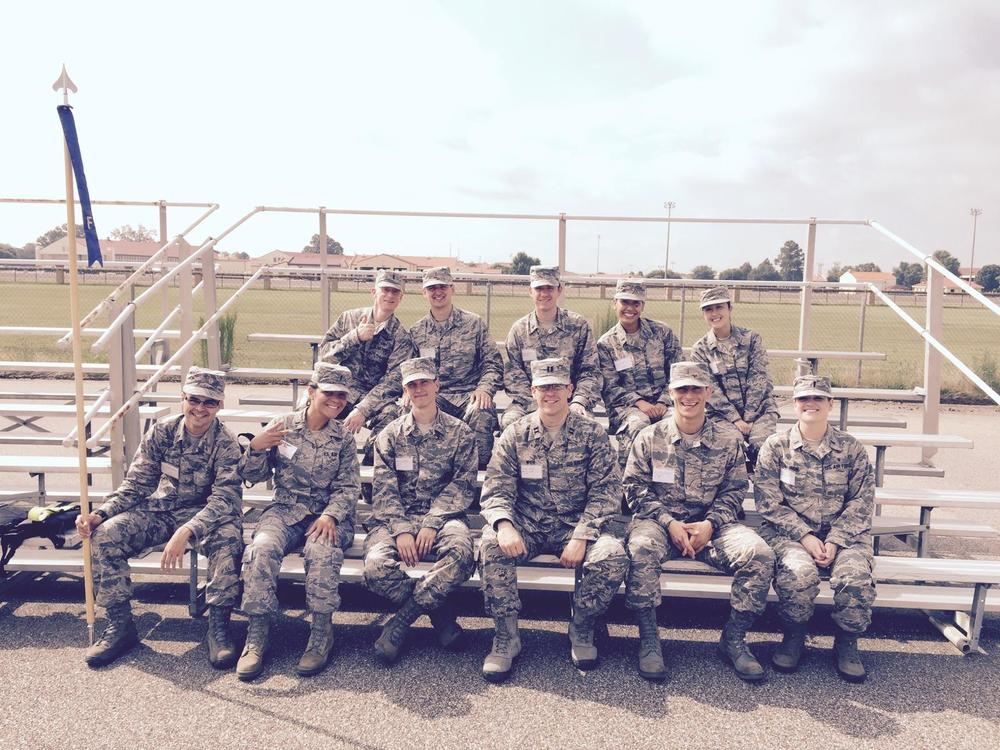 Jessie Ho (M2) and Kent-Andrew Boucher (M2) attended Commissioned Officer Training in Montgomery, Alabama. This is a group photo of their flight.