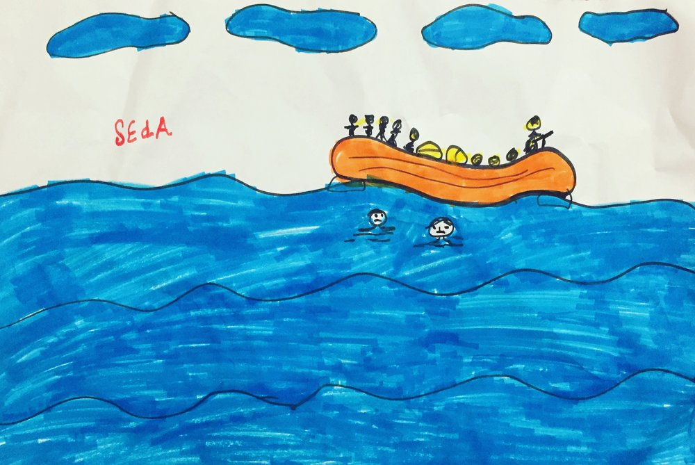 Thessanoliki, Greece–artwork by Palestinian-Syrian refugee.