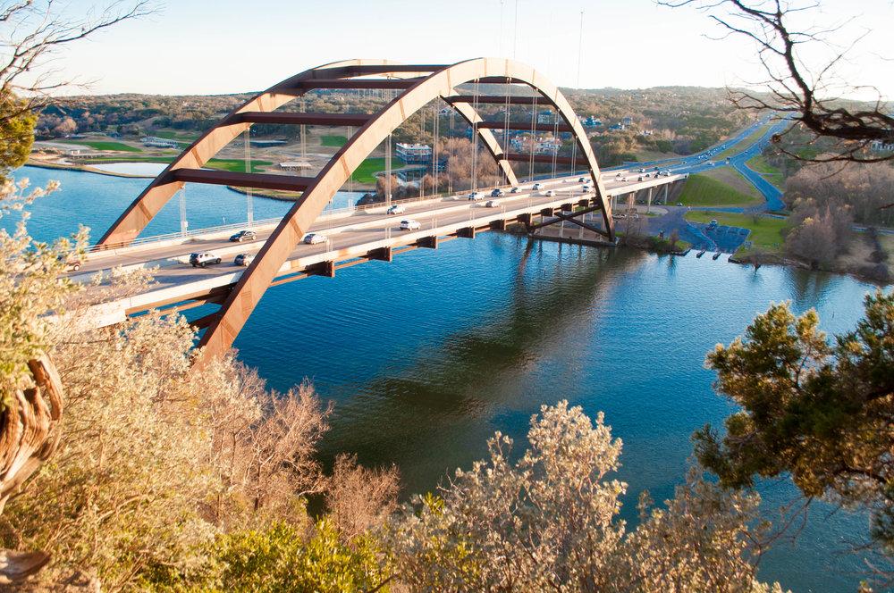 Austin's Pennybacker Bridge—photo by Shohaib Virani (M1)
