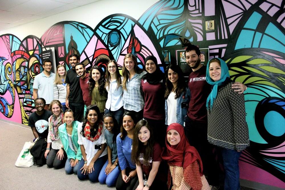 Houston, TX–Texas A&M medical students on March 5, 2016 at refugee medical history documentation event. Photo by Bindu Thota (M2)