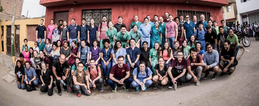 Texas A&M University medical students and faculty attending a medical mission trip over spring break to provide care for underserved populations in Peru. Photo provided by Nicole Nieman, M1.