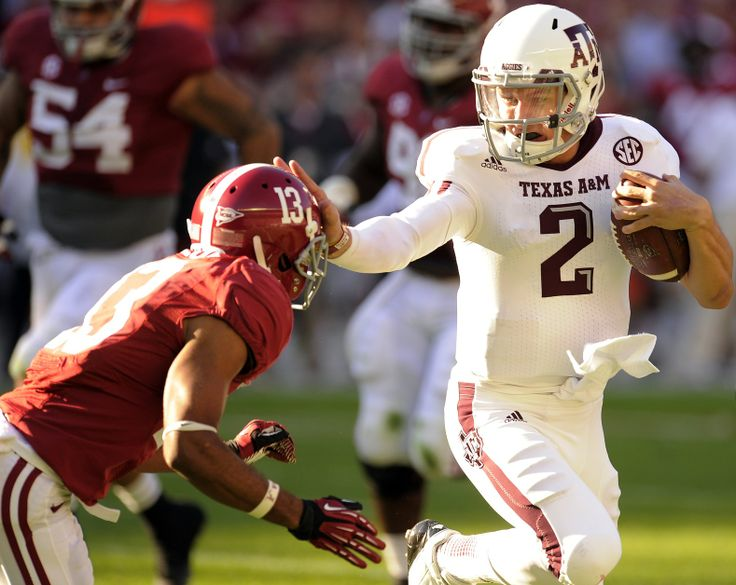 Johnny Football versus Alabama. Bleacher Report.