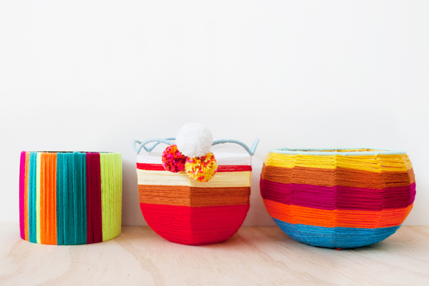 Hot Tip: You don't have to use your baskets for plants, they could also function as hold-alls for any of your knickknacks. Try gluing a circle of cardboard or wire into the base so nothing falls out.