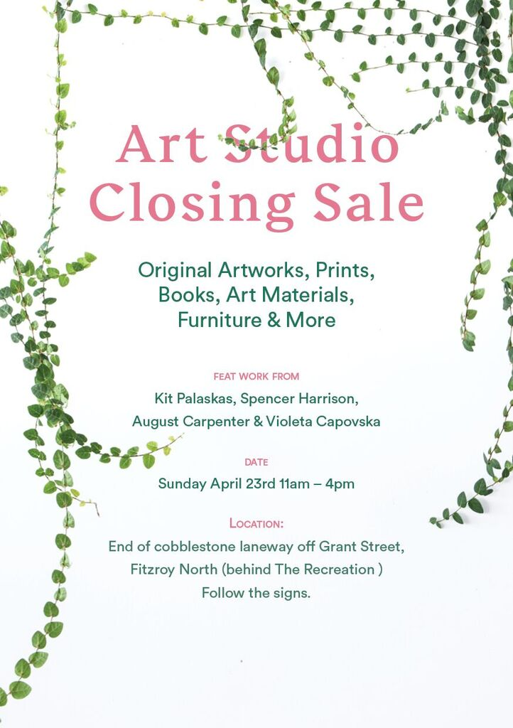 Kitiya Palaskas events - art studio sale