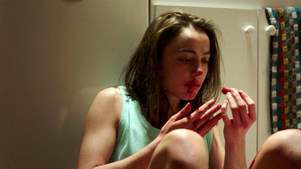 Garance Marillier as budding cannibal Justine in Julia Ducournau's  Raw  (2016).