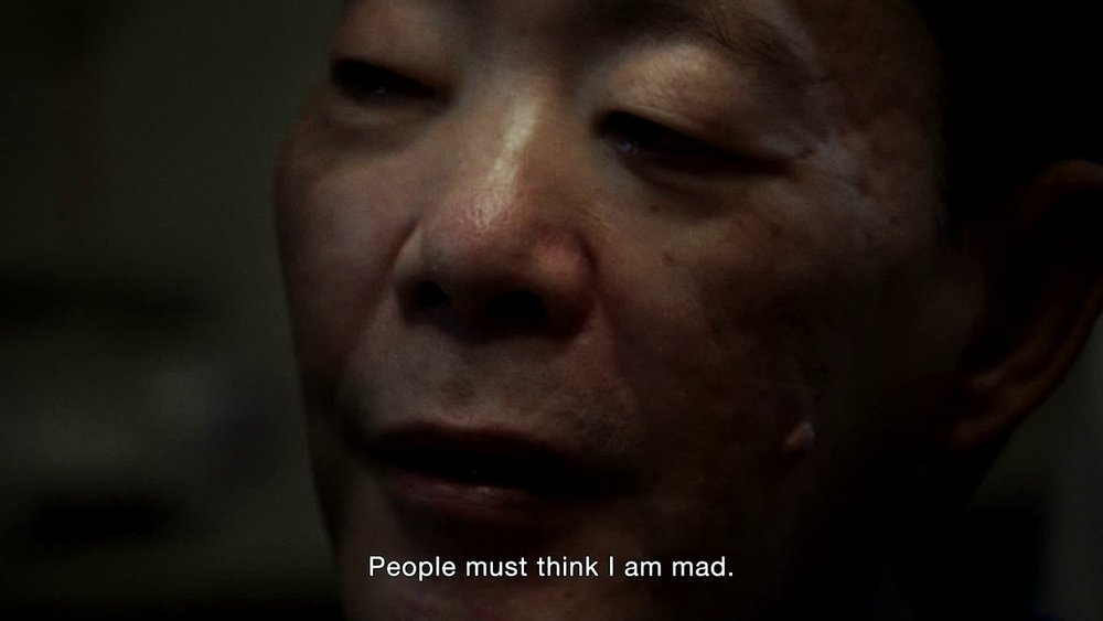 Issei Sagawa in Lucien Castaing-Taylor and Verena Paravel's documentary  Caniba  (2017).