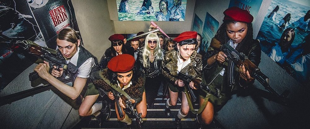 The women of  The Misandrists  (2017).