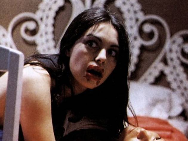 The trope of lesbian as an inhuman, unnatural blood sucker in Jesus Franco's  Vampyros Lesbos  (1971).