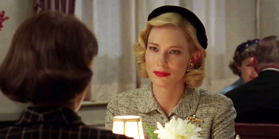 Carol (Cate Blanchette) and Therese (Rooney Mara) in Todd Haynes' Carol (2015)