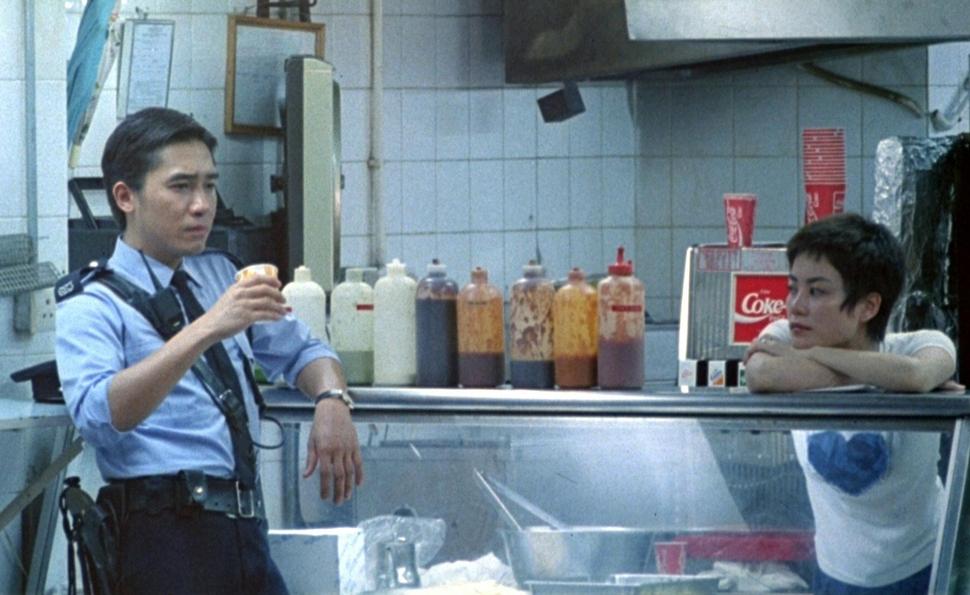 Cop 663 (Tony Leung) & Faye (Faye Wong) in  Chungking Express  (1994).