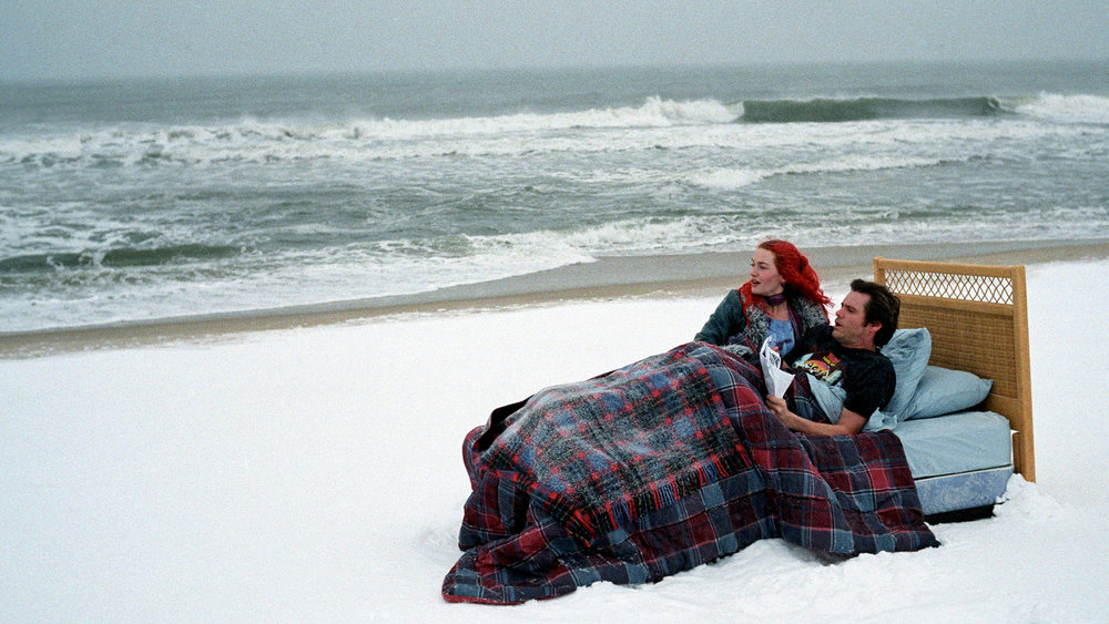 Meet me at Montauk: Clementine (Kate Winslet) and Joel (Jim Carrey) find themselves lost in a sea of memories in Michel Gondry's  Eternal Sunshine of the Spotless Mind  (2004).