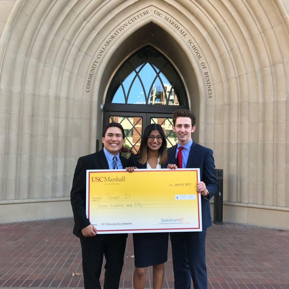 AIM consultants Erik, Geetha, and Daniel win big at the 2017 SpectrumSC Diversity Case Competition! Congratulations, and thank you SpectrumSC!