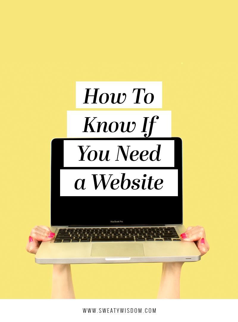 How To Know If You Need A Website