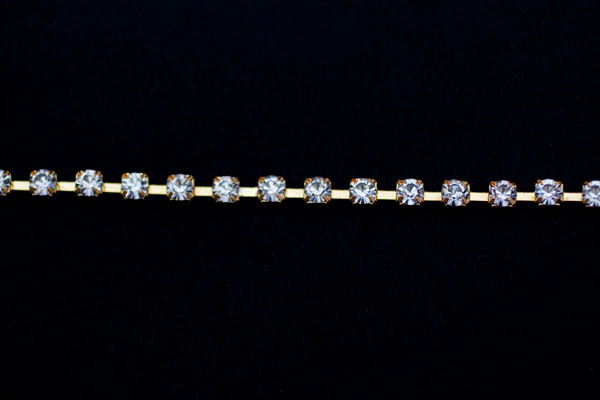 5mm Diamante Gold
