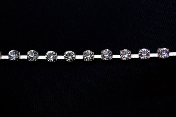 6mm Diamante Silver