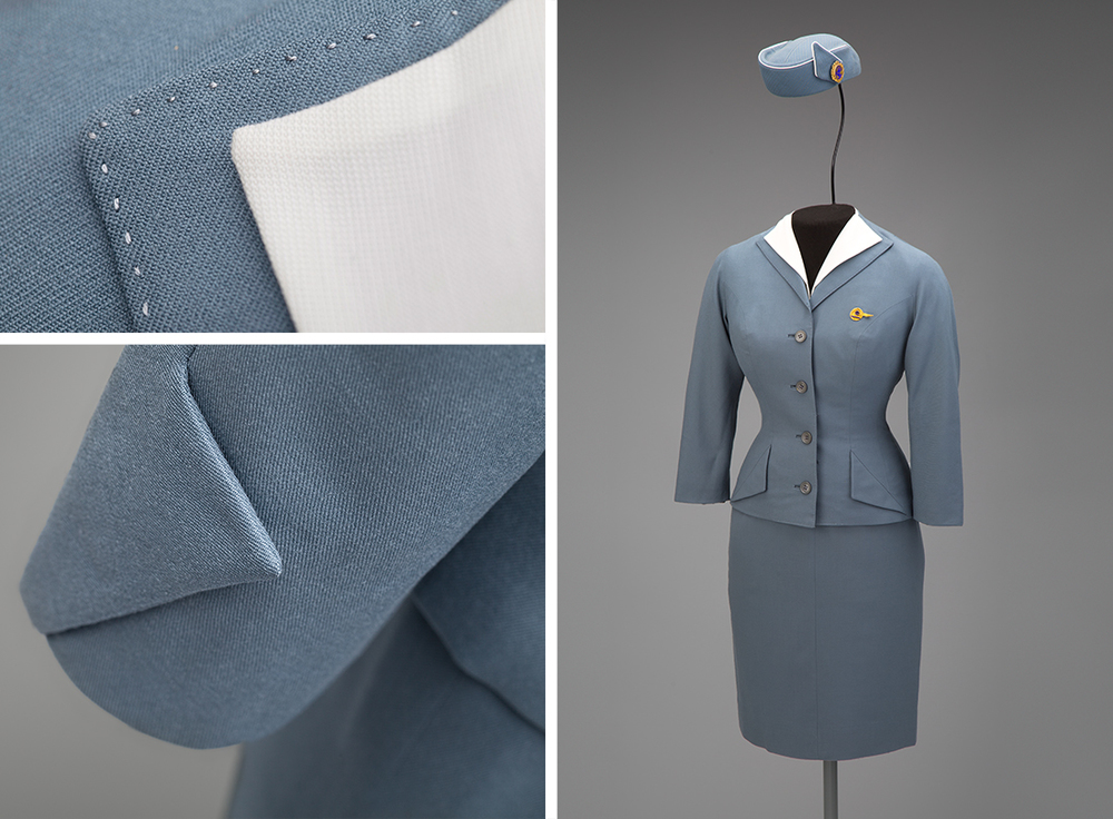 Pan American World Airways stewardess uniform by Don Loper 1959