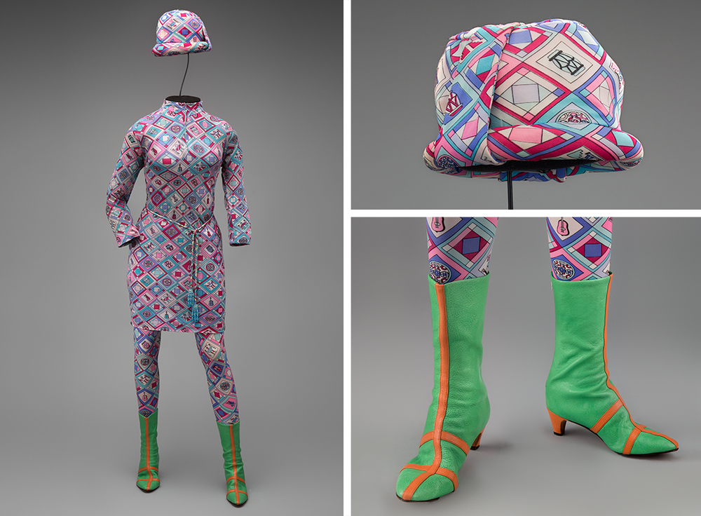 Braniff International Airways hostess uniform by Emilio Pucci 1966