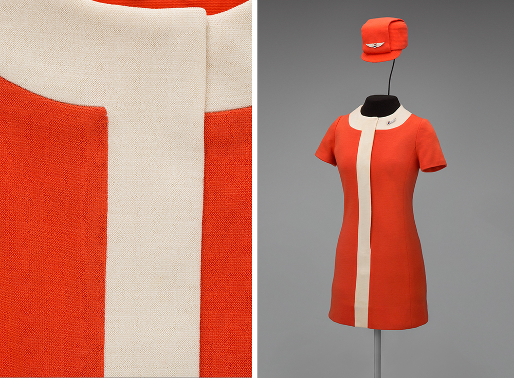 United Air Lines stewardess uniform by Jean Louis 1968