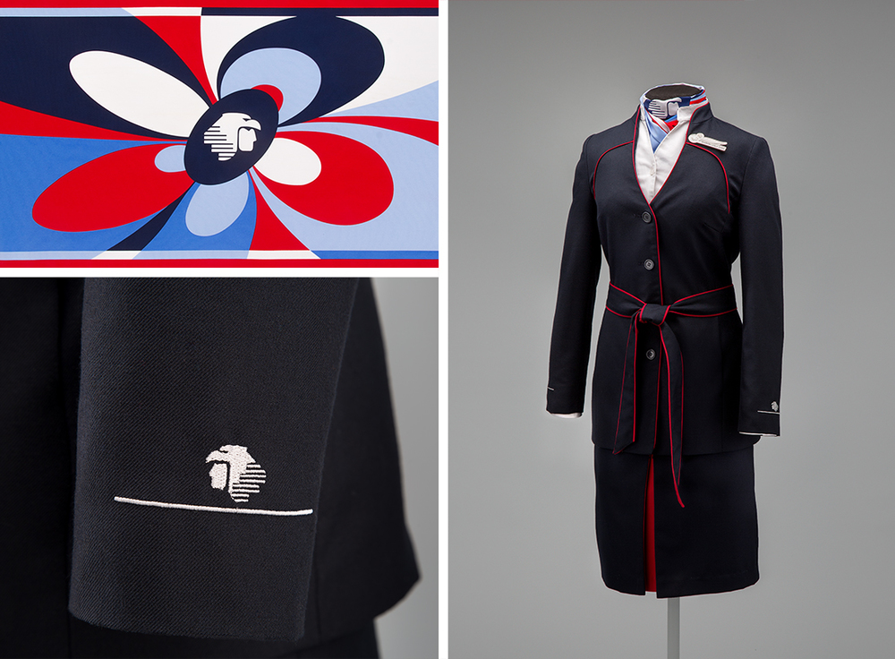 Aeroméxico flight attendant uniform2008