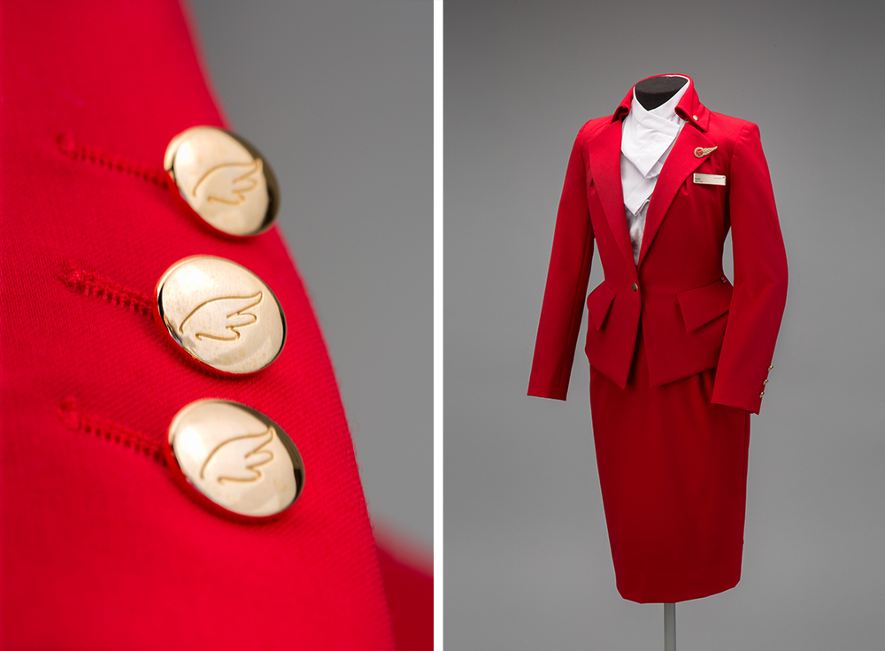 Virgin Atlantic Airways flight attendant uniform by Vivienne Westwood201