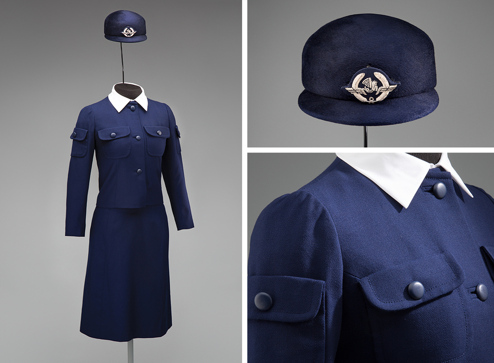 Air France stewardess uniform by Cristóbal Balenciaga196