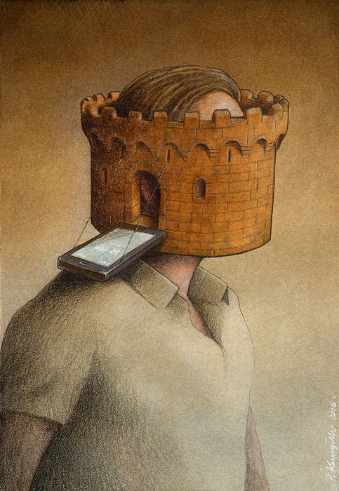 Pawel Kuczynski cartoon castle head.jpg