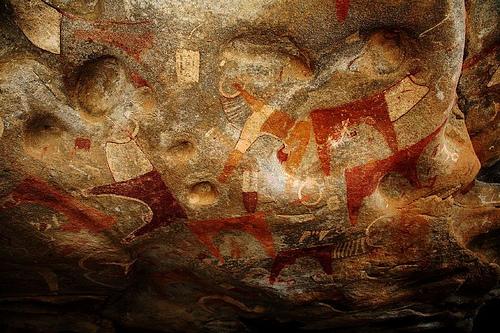 Paintings inside the Laas Geel caves, near Hargeisa in Somaliland/Somalia. By Abdullah Geelah.