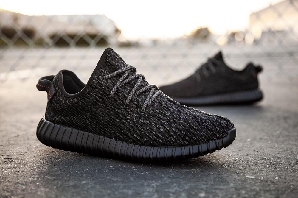 "10. adidas YEEZY BOOST 350 ""Pirate Black"" – Original price: $200 USD;  Resale: $1,264 USD"
