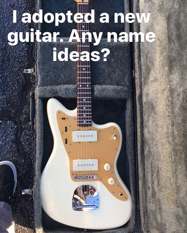 Leave your suggestions in comments below. #guitar #newguitar #jmascisjazzmaster #jazzmaster #squier #fenderjazzmaster #musician #music #dad #mom