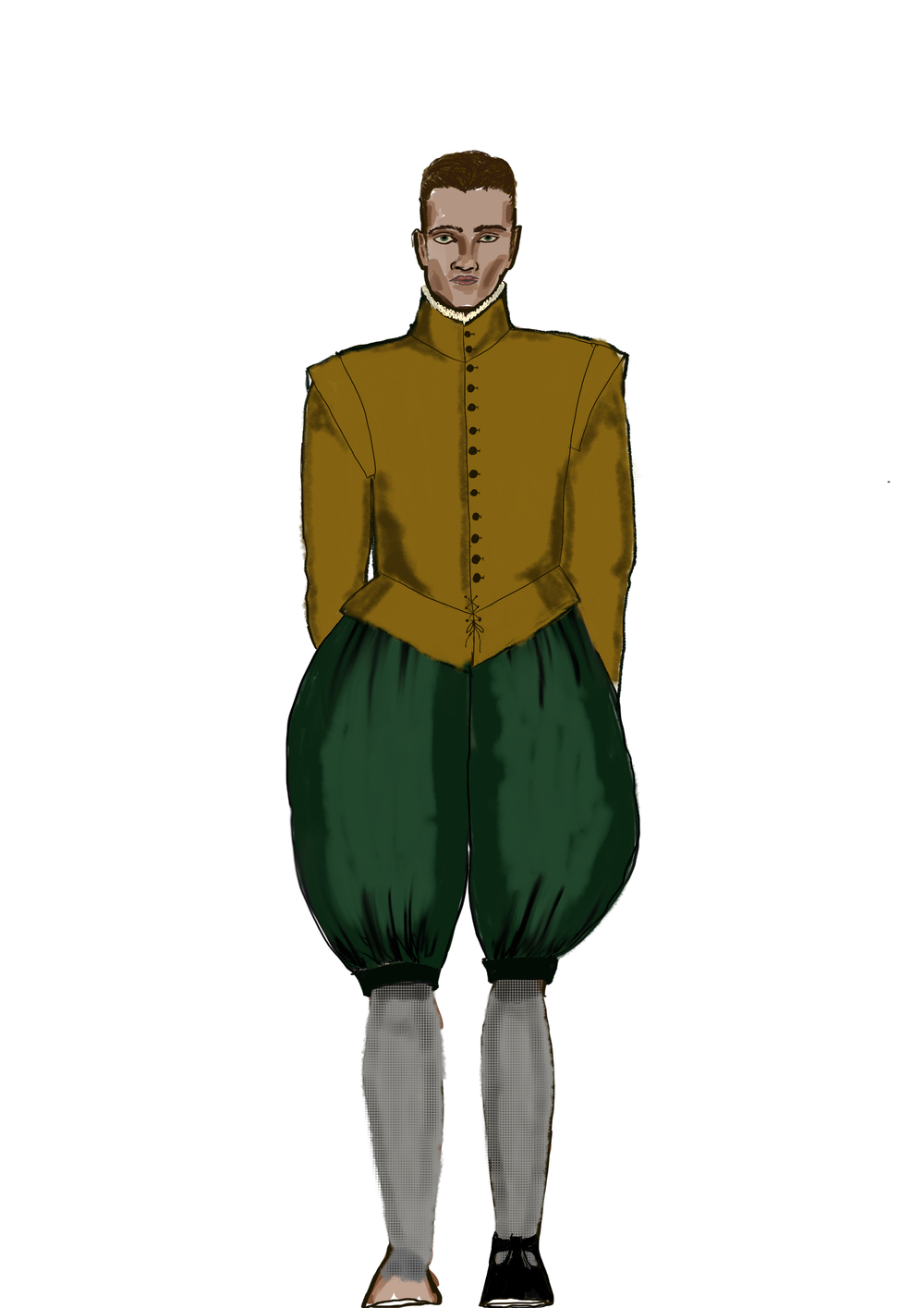 Illustration of the doublet and breeches