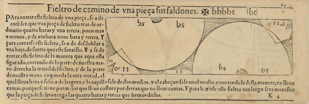 Pattern from Alcega's manual of 1580.