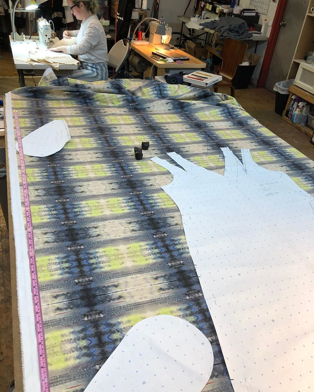 The Modern Maker Blog Inside The Design Studio Sewing For The First Time On A Commercial Juki