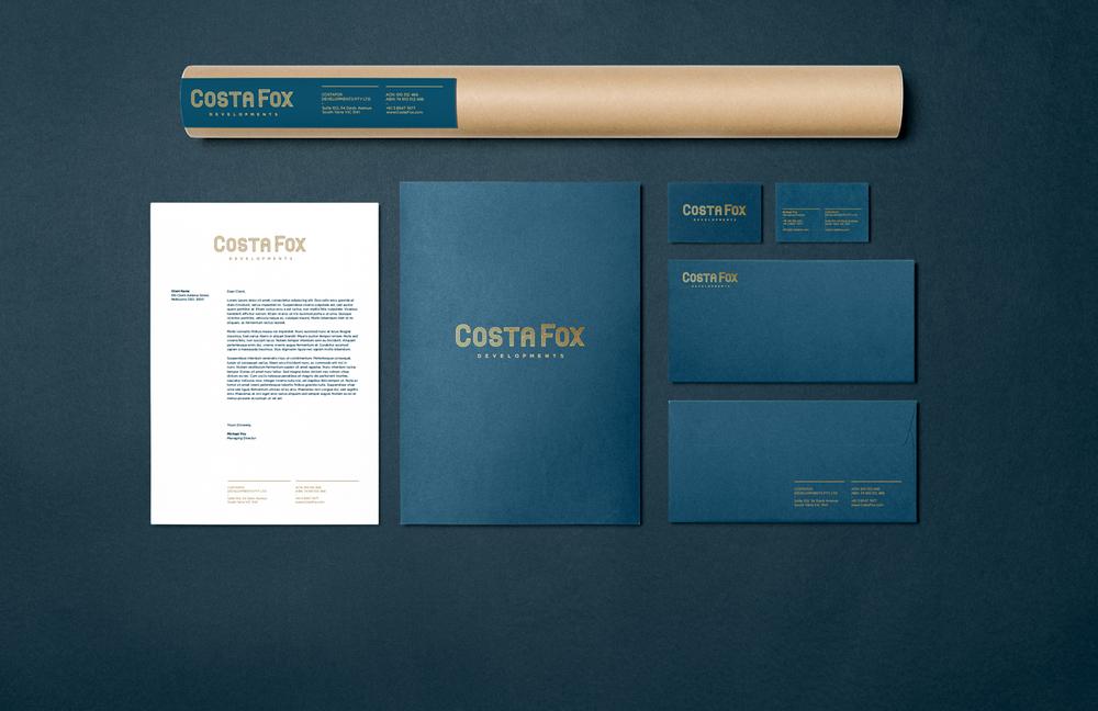 Developer Branding stationary graphic design