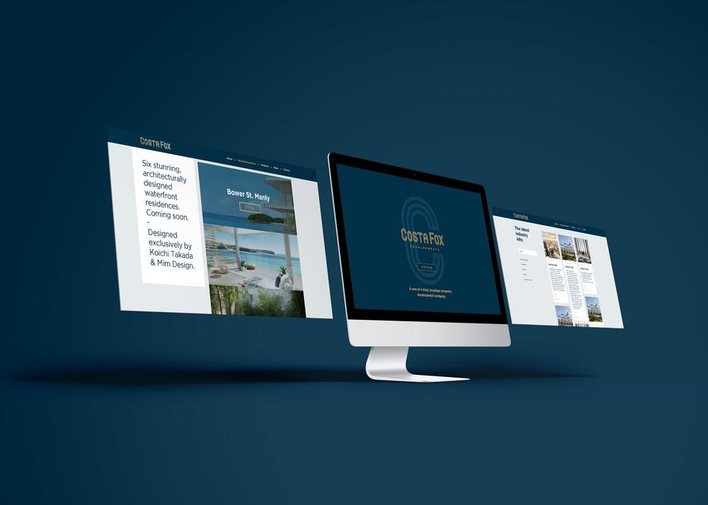 Branding website graphic design
