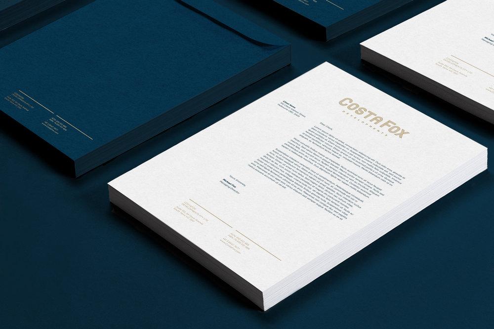 Branding stationary letterhead graphic design