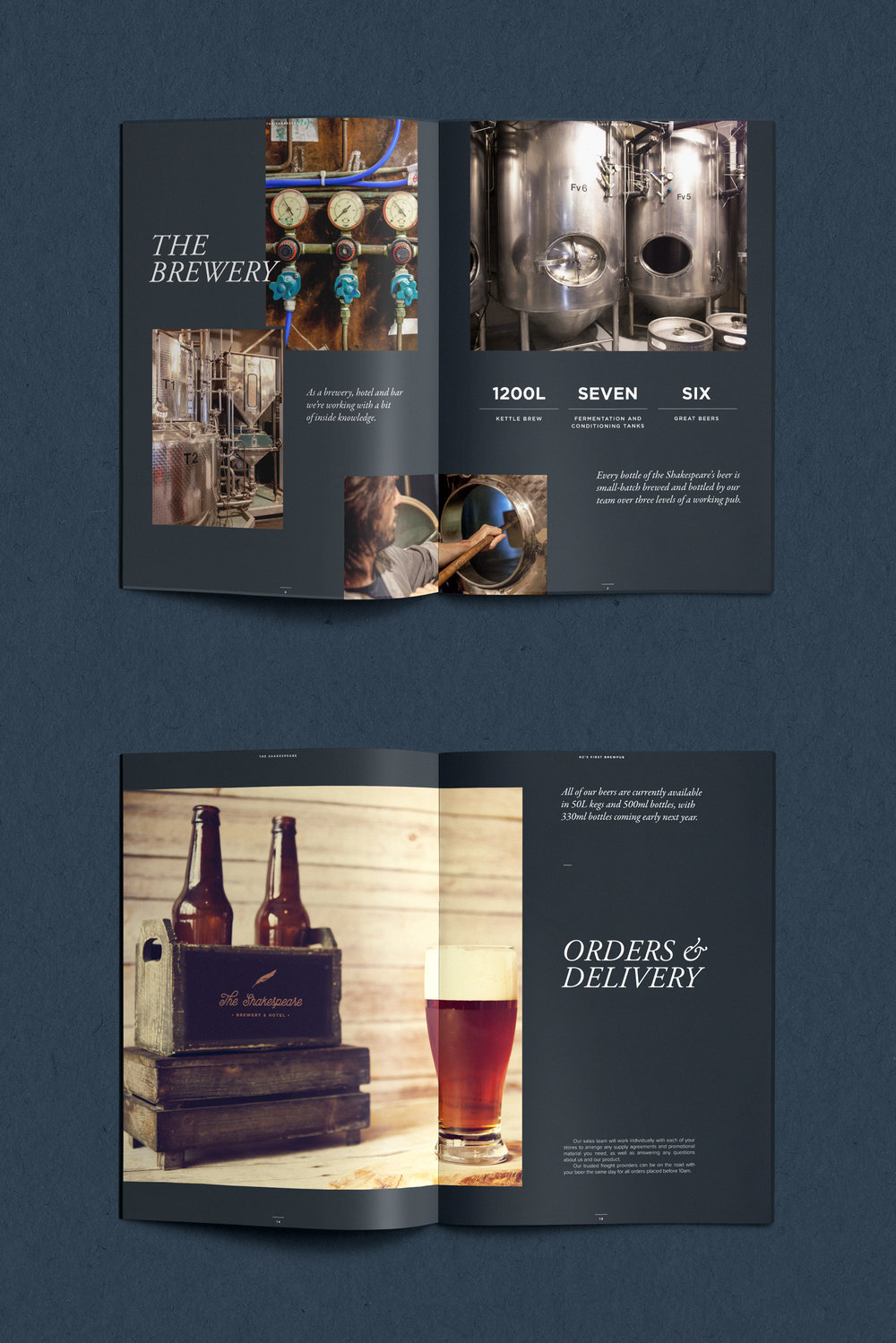 Branding graphic design Melbourne Brewery sales brochure