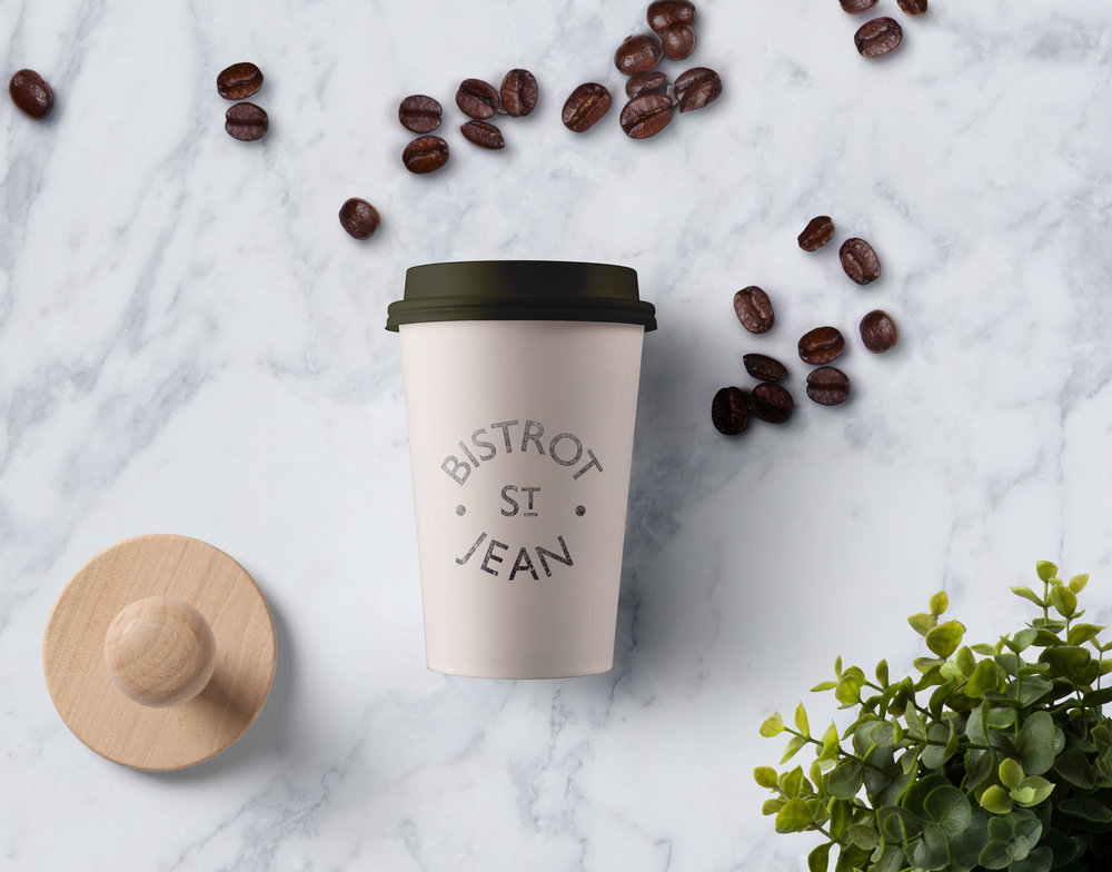 Restaurant branding Geelong Custom Coffee Cup graphic design